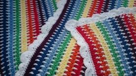 Rainbows & Clouds Pram Blanket