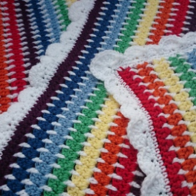 Rainbows & Clouds Pram Blanket